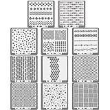 KLYNGTSK 11 STKS Mandala Stencils Tegels Template Set Herbruikbare Dotting Painting Template Tools Planner Stencils Journal T
