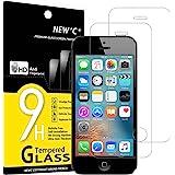 NEW'C 2 Pezzi, Vetro Temperato Compatibile con iPhone 5 e iPhone 5S e iPhone SE, Pellicola Prottetiva Anti Graffio, Anti-Impr
