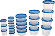 SimpArte Plastic Grocery Container, 46-Pieces, Sky Blue