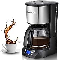 Aigostar Benno 30QUJ - Macchina da caffè americano e tè da 800 W con filtro riutilizzabile e piastra riscaldante con…