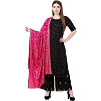 Sanganeri Kurti Women Rayon Salwar Suit Set
