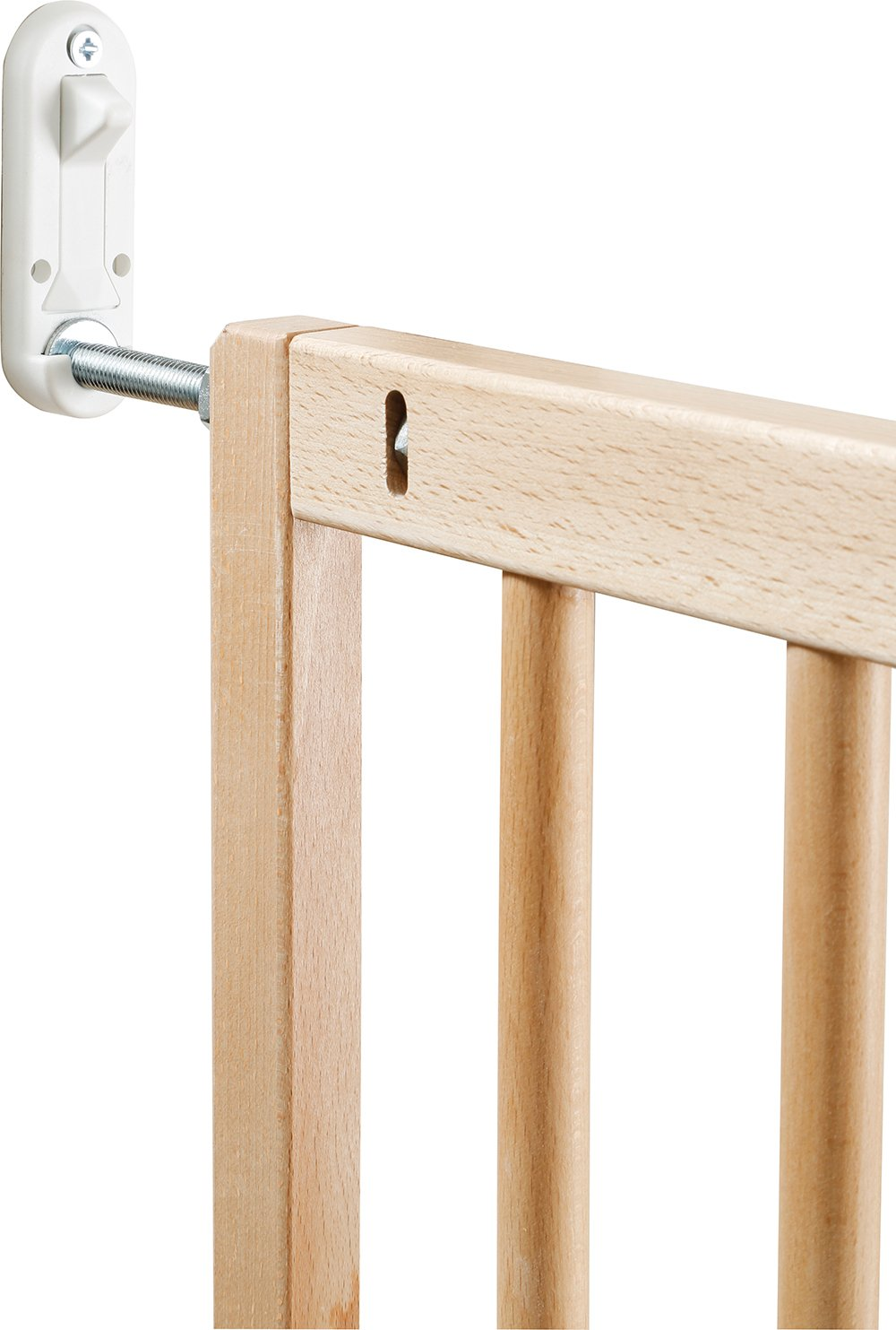 "BabyDan No Trip Beechwood Safety Gate  No Trip Safety Gate made from 100% European beechwood.  Opening measurements: 72 - 78,5 cm (28.4"" - 30.9""). Features NO TRIP Bar so ideal fro tops of stairs and busy doorways Quick to install and features adult operated quick relase wall fittings 2"