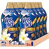 Vernel Suavizante Concentrado para la Ropa Aromaterapia Aceite de Jazmín y Lirio - Pack de 8x57D, Total 456 Lavados (10.4 L)