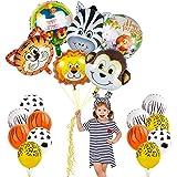 FINEVERNEK 24 Palloncino Animale , Decorazioni di Compleanno Party Ragazzo, Festa Compleanno Decorazioni,Feste di Animali For