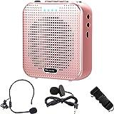 Becoyou Amplificador de voz, Amplificador de voz Portatil Recargable de 2200 mAh con Micrófono Altavoz Portatil para Profesor