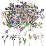 80Pcs Stickers Fleurs, Autocollant Scrapbooking Fleurs Stickers Vintage Autocollants Décoratifs Flower Stickers Craft pour Sc