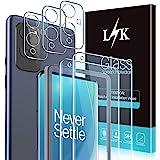 LϟK 5 Pezzi Pellicola Vetro Temperato per OnePlus 9 con 2 Pezzi proteggi Schermo Pellicola + 3 Pezzi Fotocamera Posteriore Pe