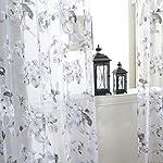 Edal Door Sheer Voile Window Curtain Panel Drape Room Floral Tulle Scarfs Valances