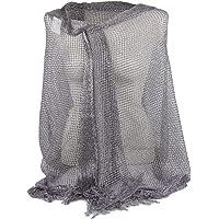 Stola donna cerimonia coprispalle a rete elegante con frange sciarpa foulard fular scialle grande lurex da matrimonio…