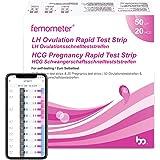 Femometer 50 x test di ovulazione + 20 test di gravidanza, Monitoraggio Attendibile del Ciclo e del Periodo Fertile…