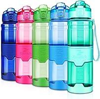 ZOUNICH Sport Trinkflasche BPA frei Auslaufsicher Wasserflasche 380ml/500ml/700ml/1L Kunststoff Geeignet...