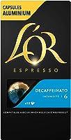 L'Or Espresso Café Decaffeinato Intensité 6 - 50 Capsules en Aluminium Compatibles Nespresso (Lot de 5X10 capsules)