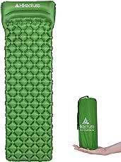 Hikenture Camping Isomatte Kleines Packmaß - Ultraleichte Isomatte - Aufblasbare Luftmatratze - Schlafmatte für Camping, Reise, Outdoor, Wandern, Strand (Türkisblau, Grün)