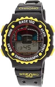 Digi-Tech Chrono Race Orologio Digitale, Uomo, Caucciú