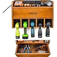 Rangement d'outils électriques - Station de chargement pour organisateurs de garage - Porte-perceuse sans fil en bois…