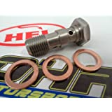 HEL Performance Motorcycle/Car Stainless Steel Double Banjo Bolt - M10x1.25
