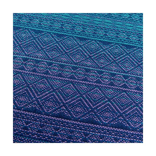 Didymos Woven Baby Wrap, Prima Sole Occidente, Size 6, 470 cm, Blue Didymos Various carrying positions, in front, sideways an on the back Special, diagonally stretchable cloth to give optimal support Holds your baby in the anatomically correct posture 4