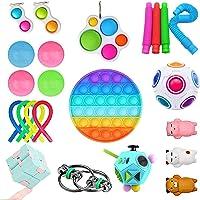 SUPYINI 23er Pack Fidget Toy Set Stressb/älle Angstabbau Stressb/älle f/ür Erwachsene und Kinder Anti Stress Spielzeug Set Sensorisches Spielzeug f/ür Autismus ADHS-Menschen