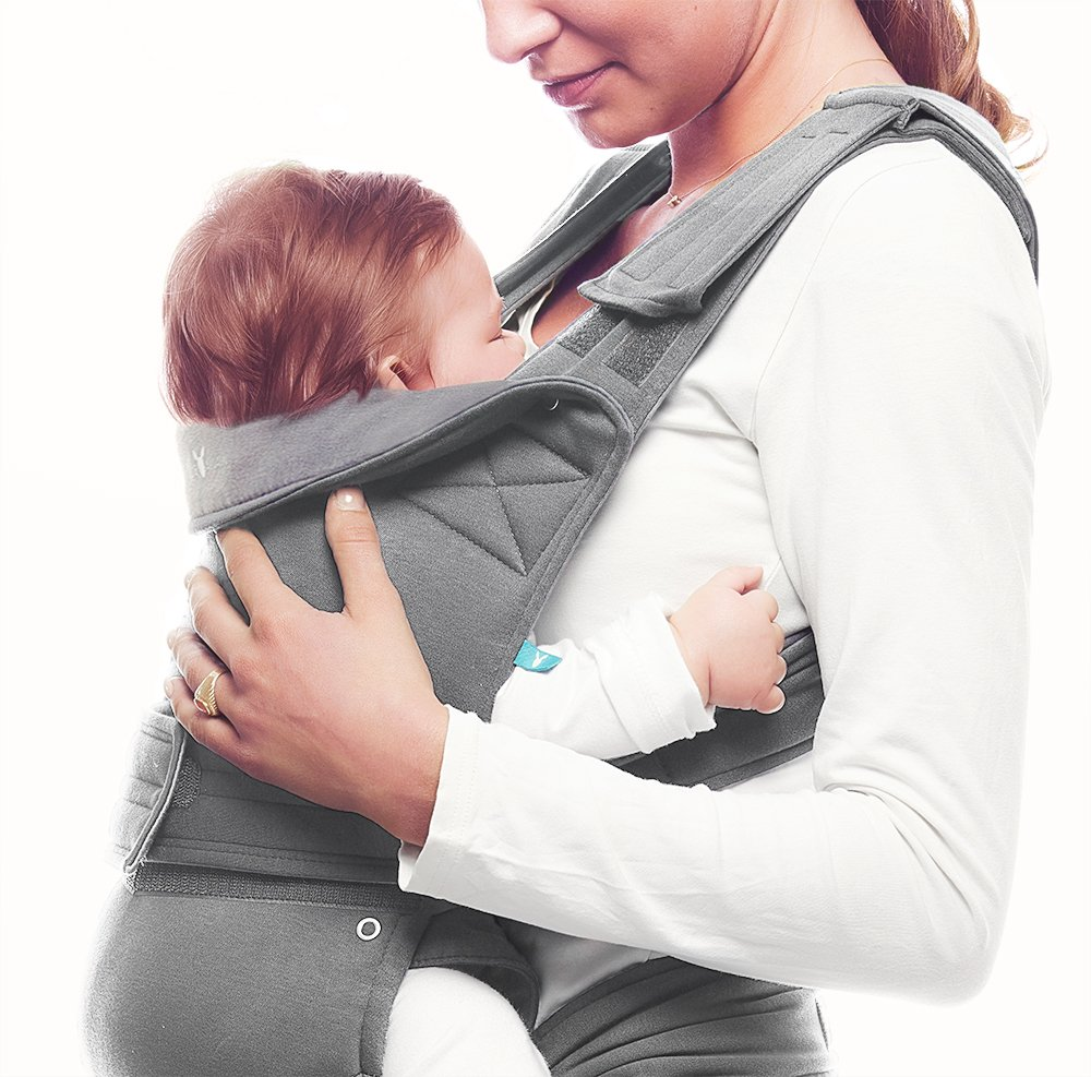 Wallaboo Baby carrier Ease, Hig Quality, Easy Adjustable and Ergonomic Front Carrier, 2 carrying poitions, Strong 100% cotton, Newborn 8lbs to 33lbs, Colour: Grey Wallaboo Ergonomic carrying with wide leg position (m-position) Sturdy waist belt and padded shoulder straps. Age suitability: babies from 3,5kg / 8 lbs to 15kg / 33 lbs. Walla boo baby carrier is made with 100% breathable cotton, makes baby feel comfortable and cozy 9
