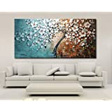 60 * 120cm Unframed Hand-painted Oil Painting Set Flower Tree Canvas Print Decoration for Home Living Room Bedroom Office Art