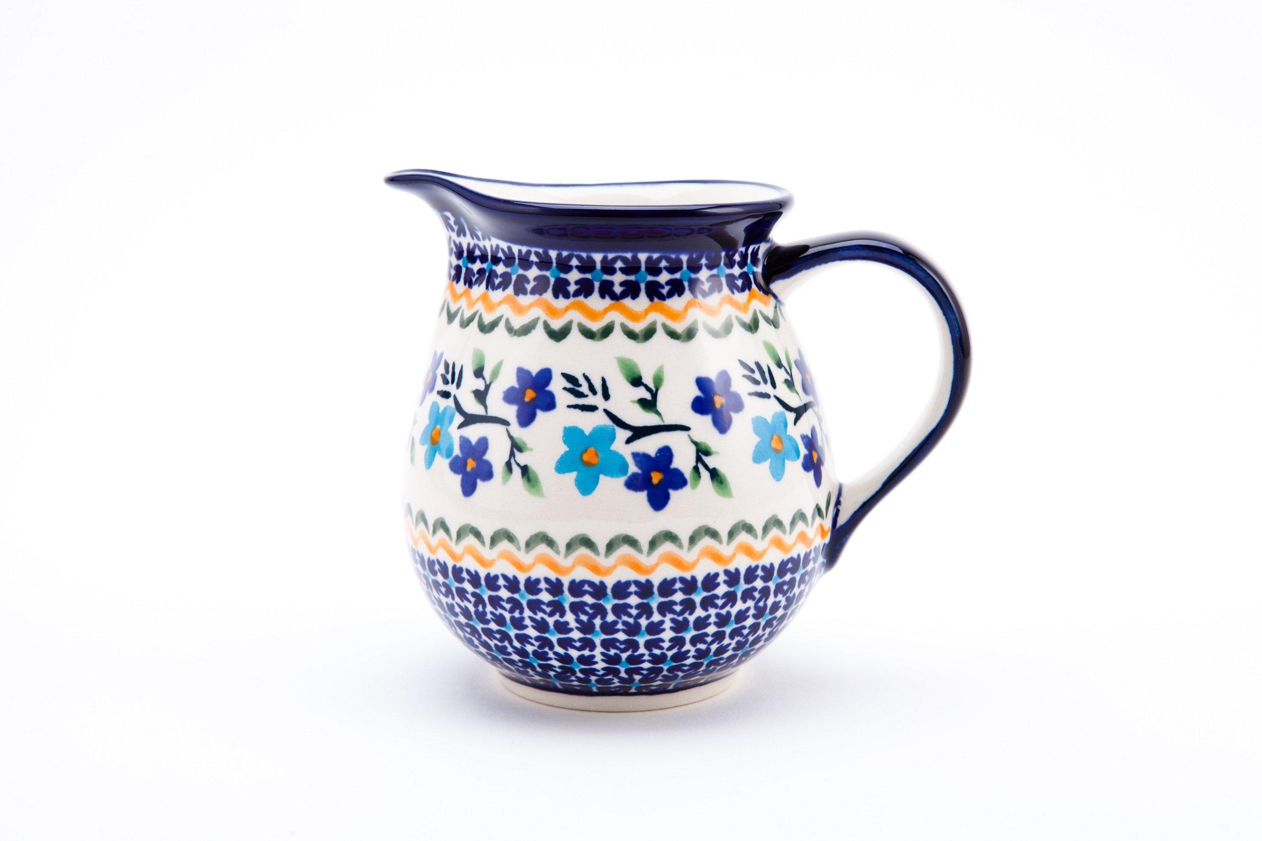 Hand-Decorated Polish Pottery Small Milk Jug/Creamer 0.42Litre ø13,1cm Height 11.8cm Decoration 1154A