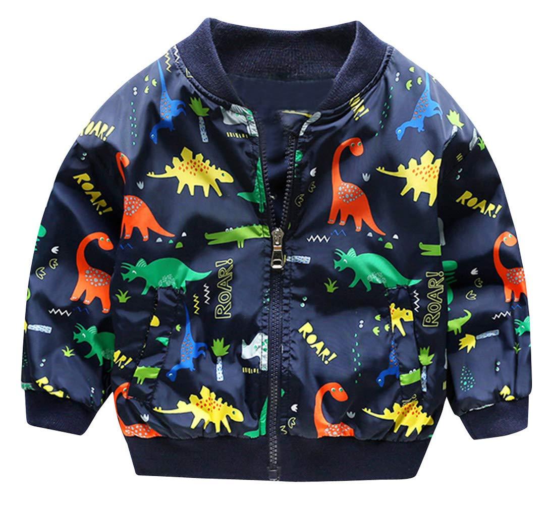 HARVEY JIA - Chaqueta Corto Niño Niña Otoño Primavera con Estampado Dinosaurio Transpirable Suave Abrigo Niña Bebé… 1