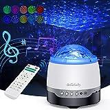 Projecteur Ciel Etoile, Lampe Projecteur LED Étoile avec Ocean Wave, Fonction de Haut-parleur de Musique, Télécommande, Proje