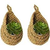 Ang-Tatva Home Jute Plant Hanger | Mini Jute Wall Hanging Planters | Flower Pot Holder for Indoor Outdoor Balcony Garden Wall