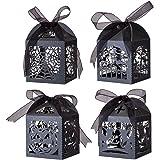 GWHOLE Set di 40 Halloween Candy Box Scatole di Caramelle Regalo di Festa di Halloween Bomboniere Scatole di Carta di Caramel