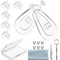 Lunettes de Nez Plaquettes, Kit de Réparation de Lunettes, Tampon de Nez Visser, Plaquettes de Nez en Silicone Souple…