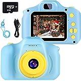 Fotocamera per Bambini Giocattolo Videocamera Digitale per Bambini Giocattolo per Bambini Schermo HD da 2 Pollici 1080P con 3