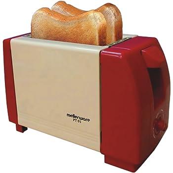 Mellerware PT 01 750-Watt Popup Toaster (Light and Dark Brown)