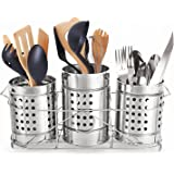 Easyroot Stainless Steel Spoon Holder for Kitchen | Cutlery Holder with Stand, Set of 4