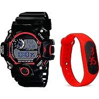 BID Silicone Sports Digital S-Shcock Watch and Led Watch for Boys