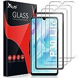 TAURI 4-pack skärmskydd för Huawei P30 Lite och P30 lite ny utgåva härdat glas med justeringsram 2,5 D rund kant 9H hårdhet b