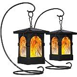Fortand Torche solaire jardin Torche Solaire Lampes Lumières Solaire de Flammes Exterieur Danse Flamme Vacillante Auto On/Off