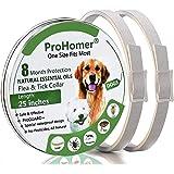 PROZADA [2PCS] Collares Antiparasitario para Perros Impermeable, 8 Meses de Protección de Efectividad Repelente de Plagas de