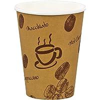 1-Pack Verpackungsteam Coffee to go Lot de 400 gobelets à café en carton avec couvercle 200 mlGobelets à café pour café…