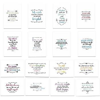 Postkarten Set Bibel Mit Umschlag 16 Hochwertige Sprüche