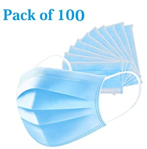 HSR 3 Ply Disposable Surgical Anti Pollution Face Mask with Ear Loops for Men and Women