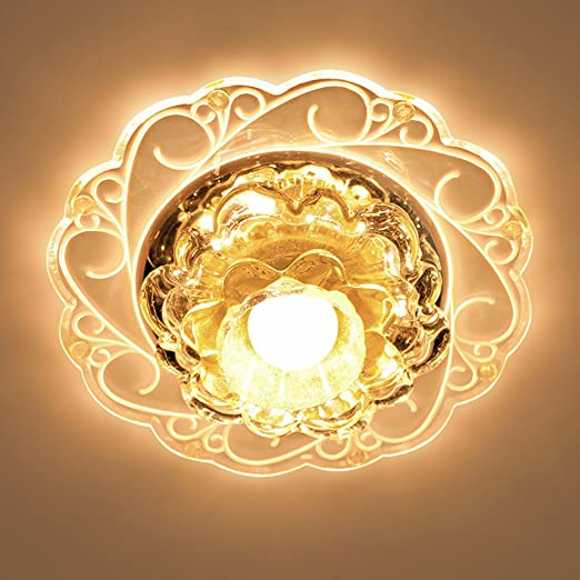 LED Ganglichter Flurbeleuchtung Strahler Decke Wohnzimmer Deckenstrahler Wohnzimmerlampe Kristall Einbauleuchte Amazonde Beleuchtung