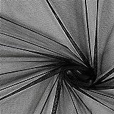 Unbekannt Soft Mesh – schwarz — Meterware ab 0,5 m —