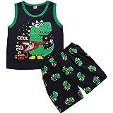Conjuntos para Niño Pijama Dinosaurio Niño Camiseta Manga Larga + Pantalones Largos Ropa de casa para Niño Estampado Dinosaur
