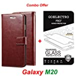 Goelectro Samsung Galaxy M20 / Galaxy M20 Leather Dairy Flip Case Stand with Magnetic Closure & Card Holder Cover...