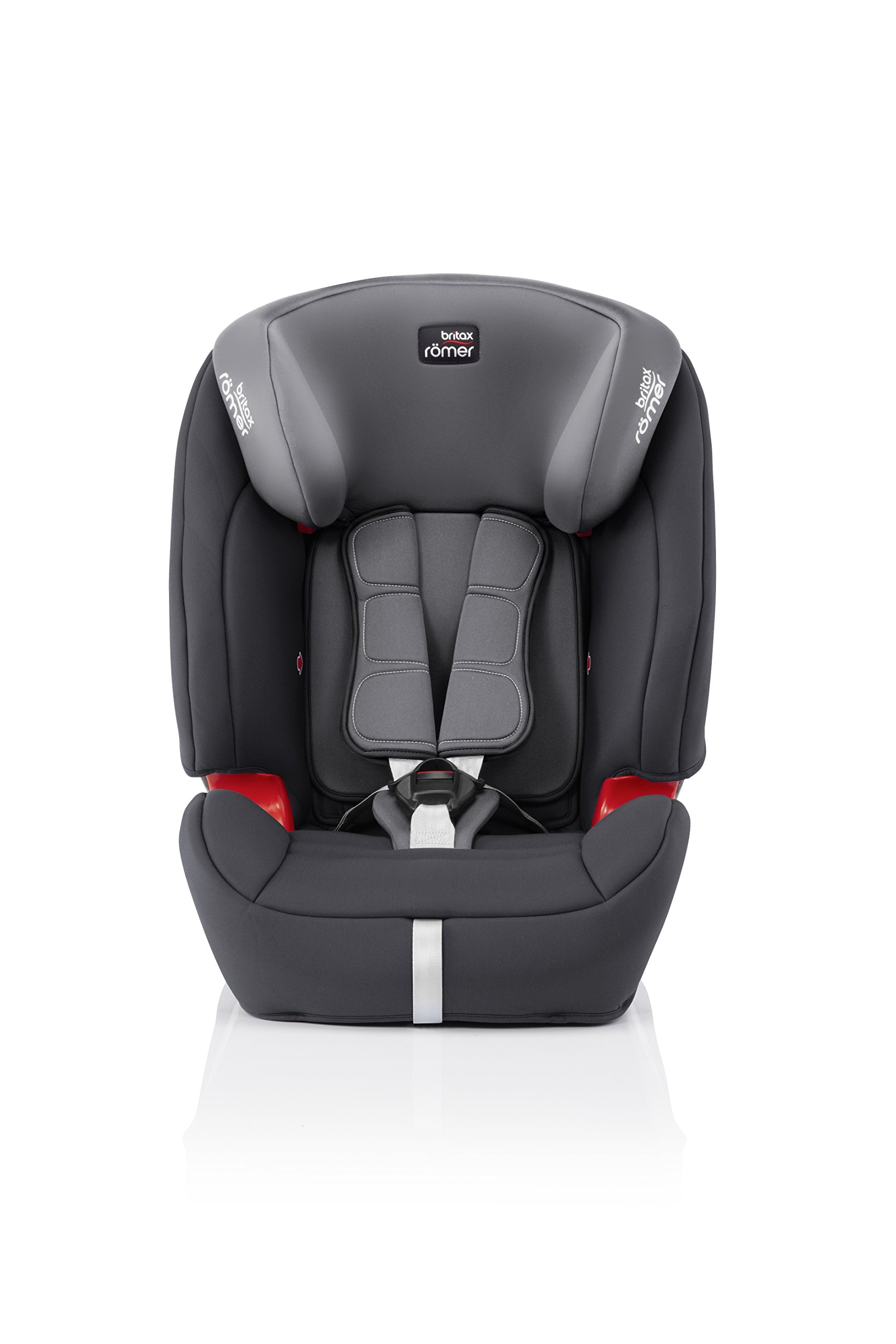Britax Römer EVOLVA 1-2-3 SL SICT Group 1-2-3 (9-36kg) Car Seat - Storm Grey  Installation, ISOFIX and a 3-point seat belt, or 3-point seat belt only Advanced Side Impact Protection (SICT) minimises the force of an impact in a side collision CLICK & SAFE audible harness system for that extra reassurance when securing your child in the seat 2