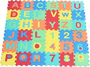 Aptitude Alphabet and Numbers Puzzle Mat for Boys and Girls (36 Pieces)
