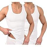 BestSale247 - Pack de 2 o 4 camisetas clásicas para hombre, camisetas interiores, camisetas de tirantes en blanco, negro o gr