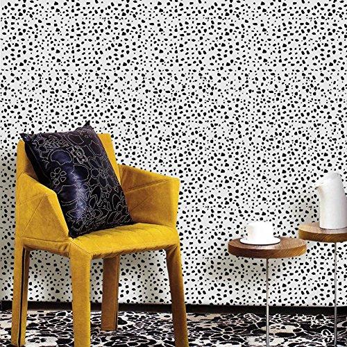 Leopard Print Pattern Tailorable Wallpaper Sticker Home Art Decor Selbstklebende wasserdichte umweltfreundliche PVC 122 * (Gläser Print Leopard)