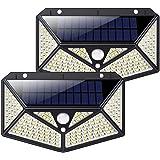 Luz Solar Exterior 150 LED, kilponen [Versión Innovadora 2200mAh] Foco Solar Potente con Sensor de Movimiento y 3 Modos de Il