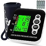 Misuratore di Pressione da Braccio, OUDEKAY Sfigmomanometro Elettronico Da Braccio, Misurare Pressione Arteriosa e frequenza cardiaca, Ampio display a LCD retroilluminato, 2 Utenti 2 * 99 Memoria
